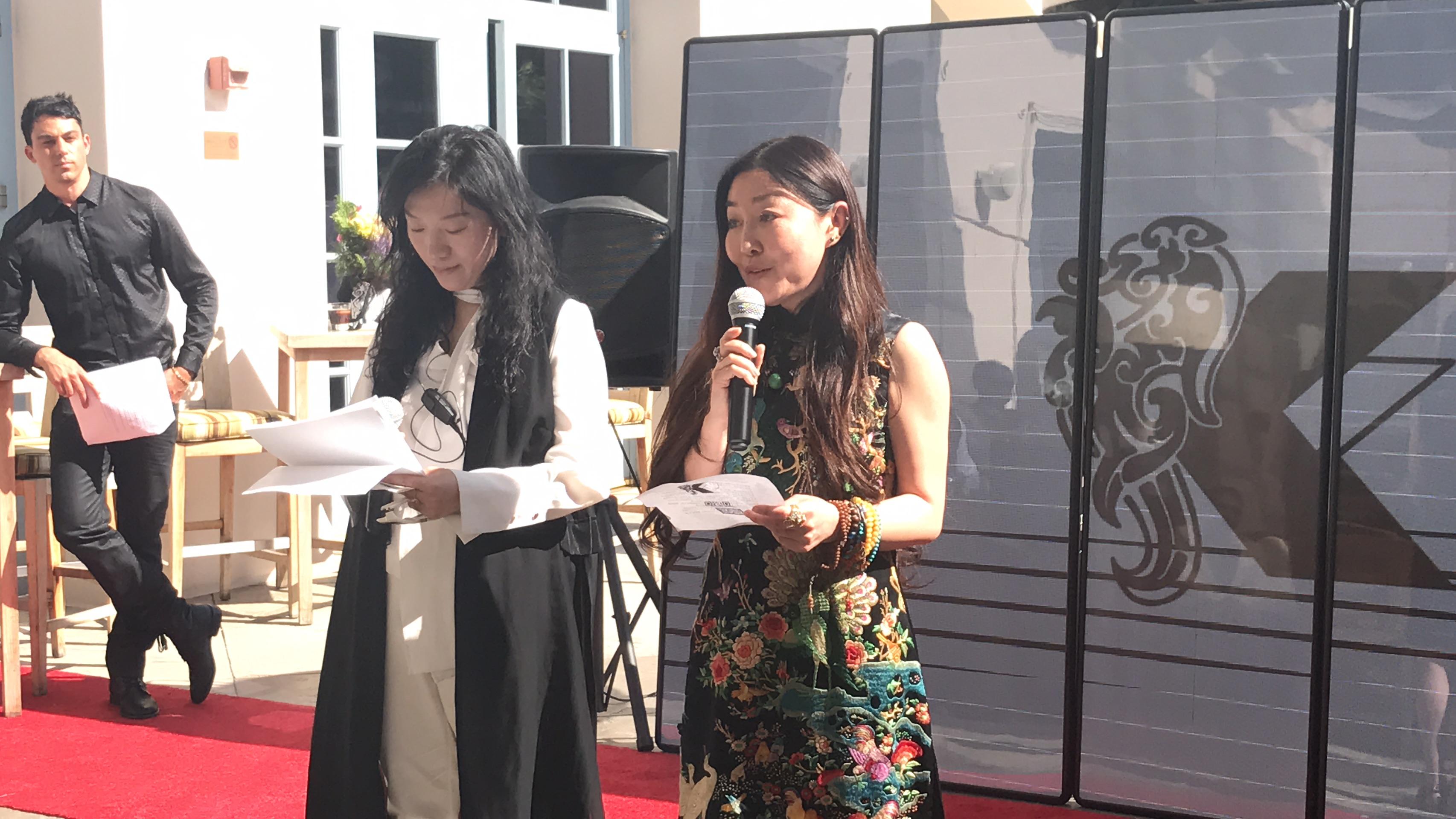 趙晨陽在會場發表致詞。記者李博爾攝
