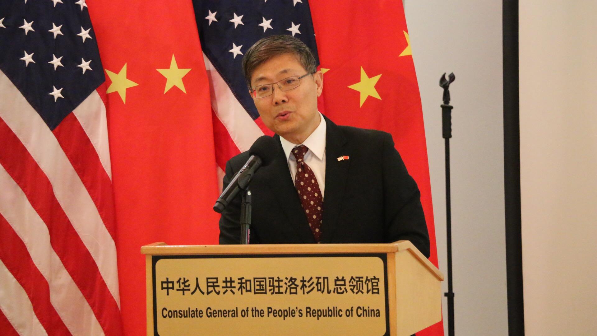 中國駐洛杉磯總領館總領事劉健已過退休年齡,明年將會有新人接班。記者李寧攝