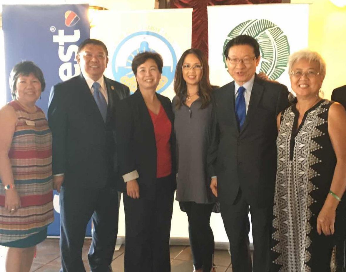 (左2起)沈時康、勞朱嘉儀、藍永美、伍國慶。記者彭依寧攝