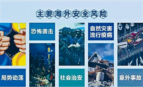 中國公民海外有五大安全風險。