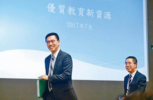 教局局長楊潤雄表示,將新資源投放於自資院校,惠及學生較多。蘇正謙攝
