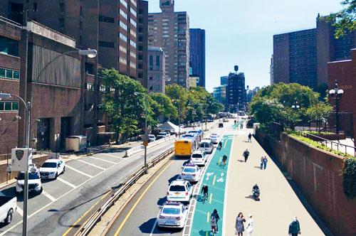 柏路將新增單車道和人行道。市交通局供圖