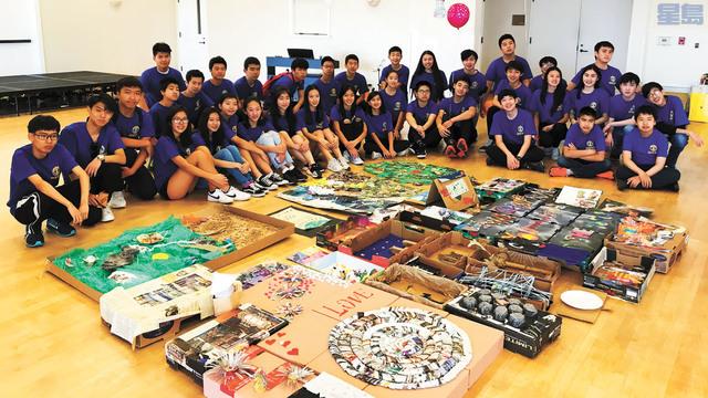 8月12日,矽谷青少年扶輪社大力支持和推廣的「廢品回收藝術」項目在中半島佛斯特市舉行了「廢品回收藝術展」。環保藝術俱樂部提供