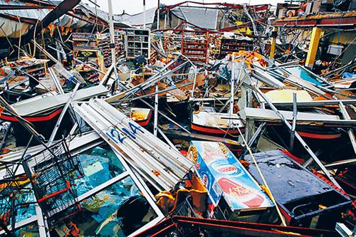 受颶風侵襲的波多黎各多處房屋倒塌。資料圖片
