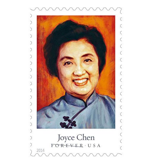 美國郵局發行的廖家艾紀念郵票。檔案圖片