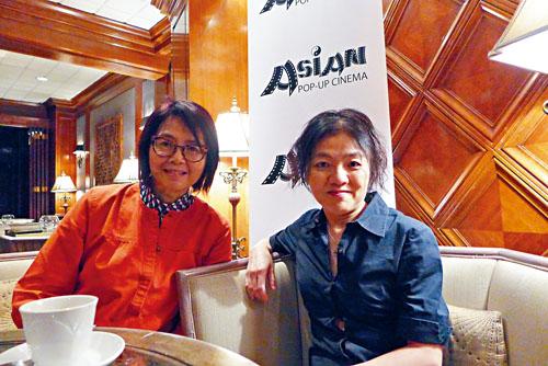 台灣影片「林北小舞」導演陳玫君(右)、亞洲躍動電影展創辦人王曉菲(左)漫談電影就是真實人生的寫照。梁敏育攝
