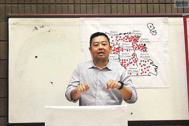 華協副主任楊重賢指,政府逾400萬撥款將幫助亞太裔社區服務。記者梁穎欣攝
