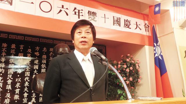 全國亞太裔長者中心董事局主席Pablo J. Wong發言。記者黃偉江攝