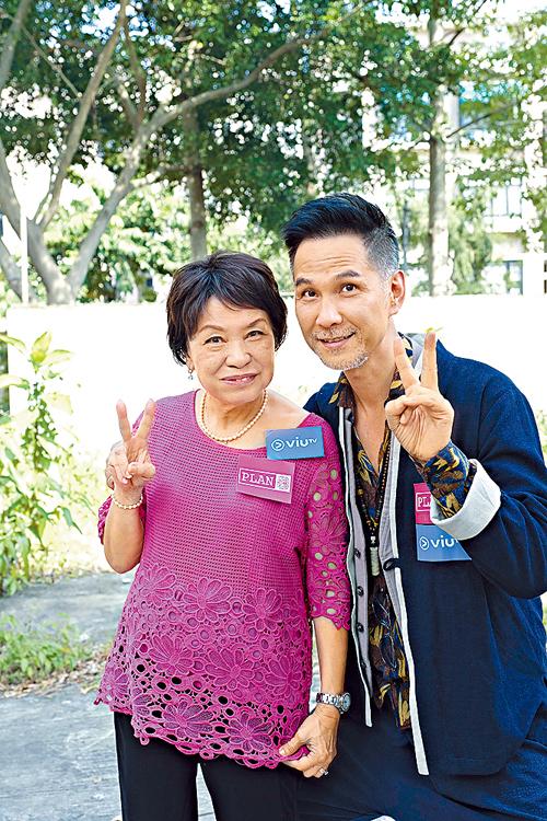 陳啟泰與余慕蓮合作ViuTV新劇《Plan B》。