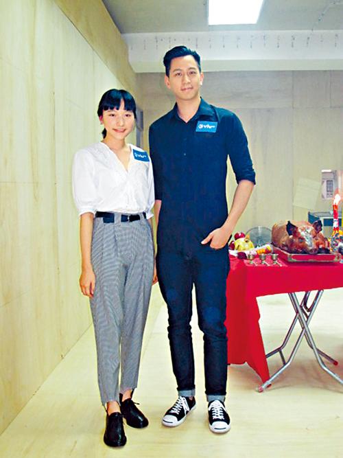 陳漢娜與徐肇平出席ViuTV新劇《身後事務所》開鏡拜神。