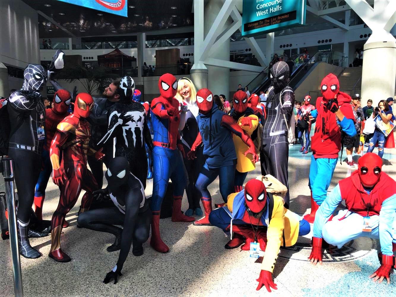 不同時期的蜘蛛俠齊聚一堂,引人注目。記者曾妮華攝
