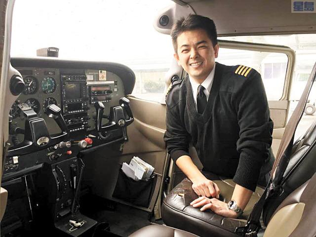 莊上毅是南加州少數的飛行學校教官,至今已經培育出不少的華人飛行員,他說有不少來自亞洲的學生,透過在美取得執照後返回大陸或台灣培訓成為機長。記者陳光立攝