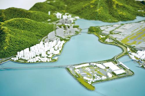 將來的東涌面貌模擬圖。