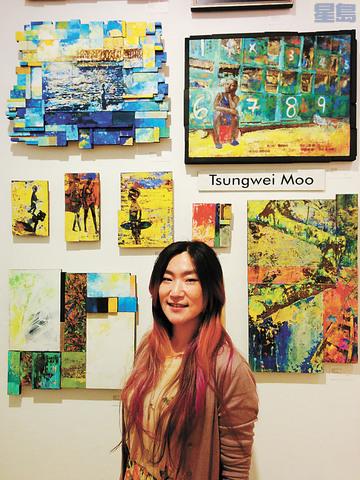 來自台灣的藝術家牟宗瑋在City Art Gallery展出關於非裔歷史月的藝術作品。牟宗瑋提供