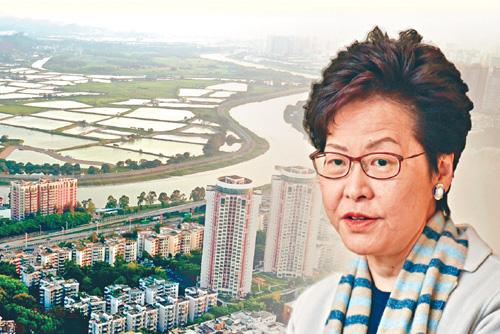 「粵港澳大灣區發展規劃」將出台,上京列席全國人大會議開幕的特首林鄭月娥很雀躍。