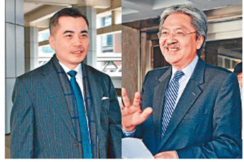 黃仁龍(左)及曾俊華(右)分別發聲明,反駁陳慶偉法官的指控。