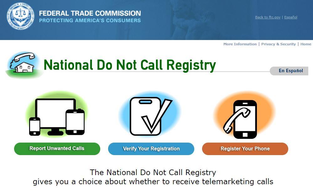 針對民眾經常收到垃圾電話推銷物品,政府機構鼓勵上Do Not Call List登記,或可減少被騷擾的機率。 聯邦貿易委員會(Federal Trade Commission)提供