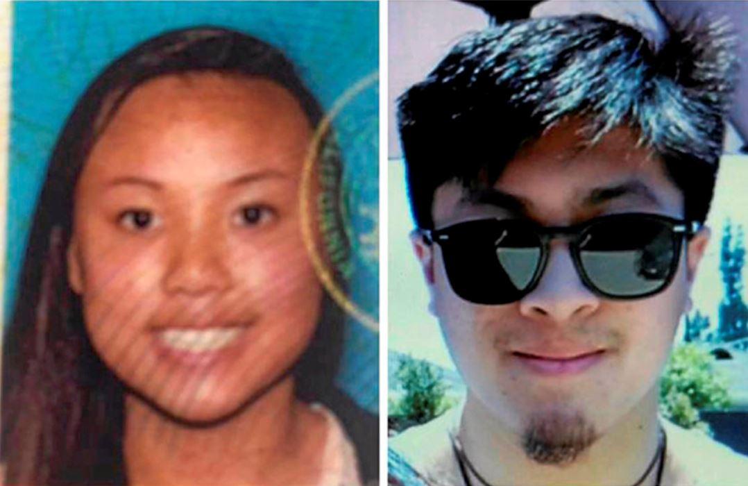 21歲男子奧貝索(右)和20歲女子阮瑞秋(左),去年在約書亞國家公園失蹤三個月後屍體被尋獲,但兩人目前真正槍擊致死的主因仍是謎團。AP