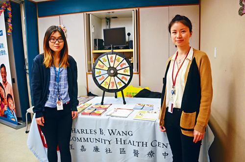 王嘉廉社區醫療中心昨日舉辦的兒童健康日向家長普及兒童健康飲食及習慣的知識。