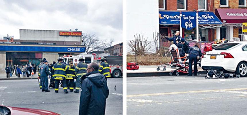有目擊者拍下緊急救援人員在現場搶救傷者的情況。推特圖片