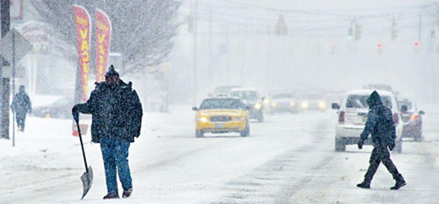 再有東北風暴吹襲三州地區,預計多處將有大風雪。美聯社