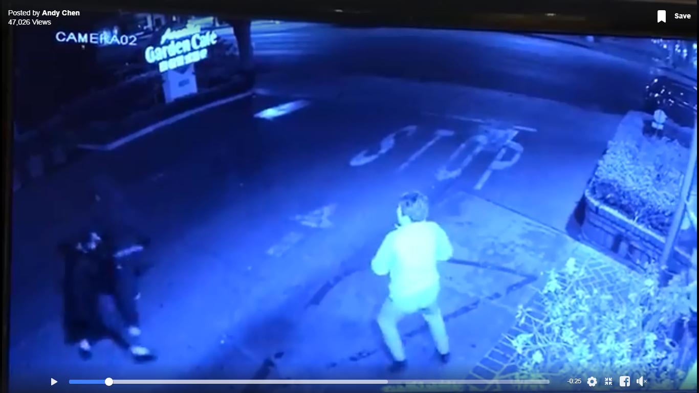 女子護包結果摔倒遭劫匪拖行。錄像由戴守真提供