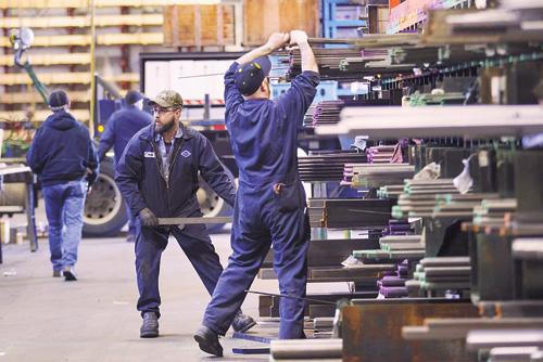 美國總統特朗普上周才宣布要對進口鋼材及鋁製品徵稅。法新社