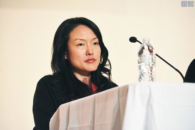 市參事金貞妍支持率正急起直追。