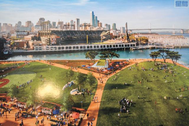 完工的Mission Rock將提供大面積的公共空間供民眾使用。記者徐明月攝