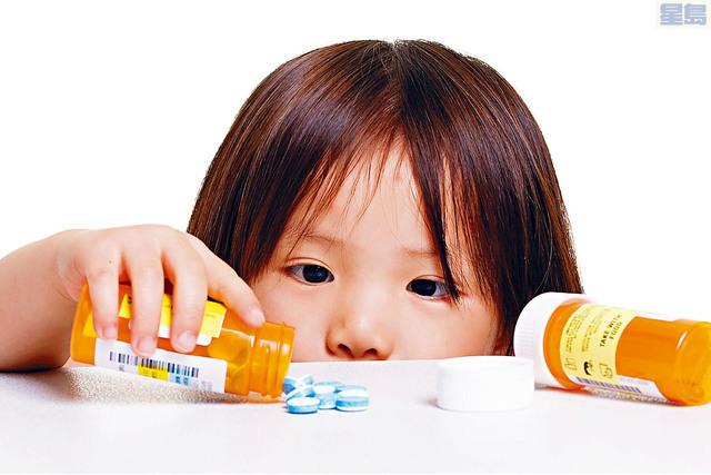 ■研究發現,愈來愈多兒童因接觸或誤食鴉片類藥物而中毒就醫。childsafe圖片