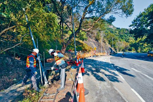 運輸署擬將涉事路段限速五十公里。 資料圖片