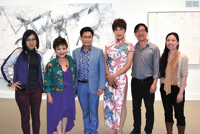l 中華文化中心舉行第五屆舞蹈節,華裔女性饒舌歌者劉庭安(左一),灣區本地粵劇名家杅家聲(左三)以及廣州反串藝人歐輝(右三)將帶來歌曲演出。記者徐明月攝