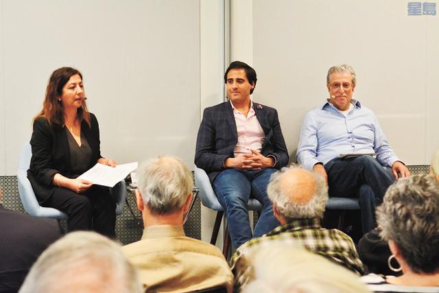 ■ 「2018特朗普與中東」座談會,邀請學者Banafsheh Keynoush、Masher Kalaji和Eddy Simonian討論特朗普政策如何影響中東局勢。記者劉康泰攝