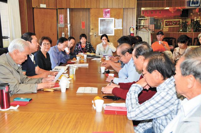 東灣國慶委員會(2018年) 第一次國慶籌?會議在進行中。姜家譽攝