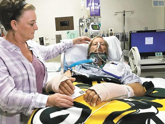 圖為乍文在醫院中。電視截圖