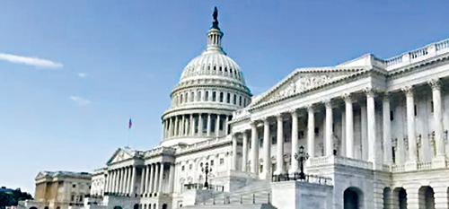 參議院以大比數投票結果通過議案,強調總統特朗普以國安名義實施懲罰性關稅時,應該徵得國會同意。資料圖片