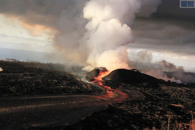 火山爆發對大島居民生活造成影響,但選務處稱將在當地設立票站鼓勵選民參與8月初選。美聯社資料圖片