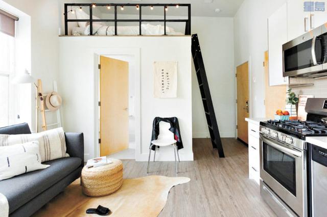 月租1600元的高級套房及共享空間。Common