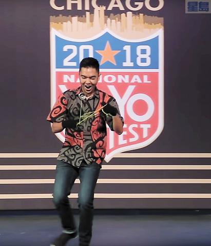 檀香山青年Evan Nagao玩搖搖全美第一,將遠赴上海參加世界賽。YouTube視頻截圖