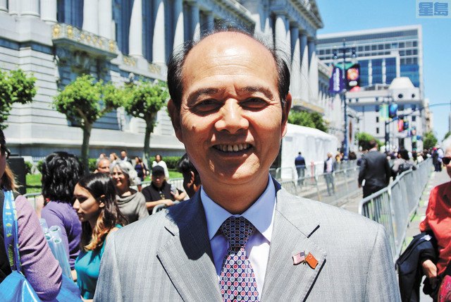 中國總領事羅林泉。記者黃偉江攝