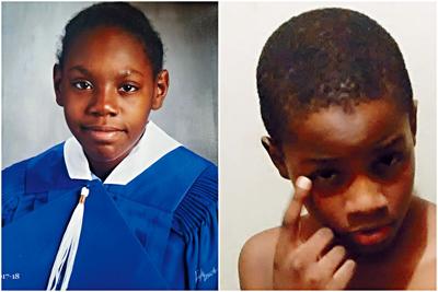 12歲女孩華盛頓(左)和8歲弟弟希拉德。DCPI圖片