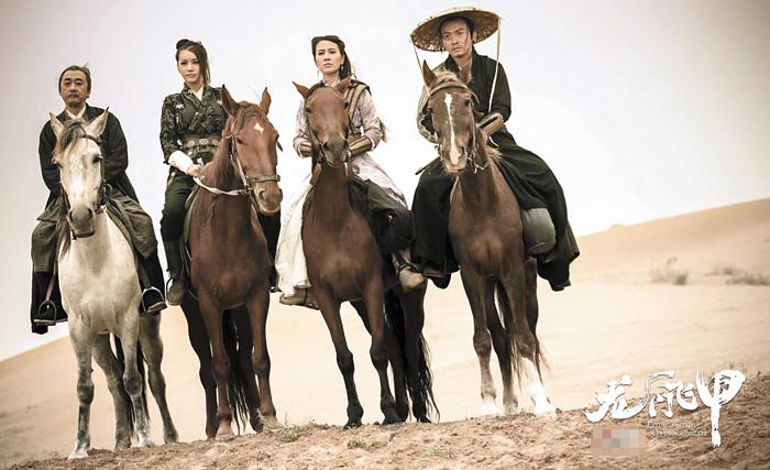 聶遠與葉璇在沙漠一路互相陪伴,攜手懲惡揚善。網上圖片