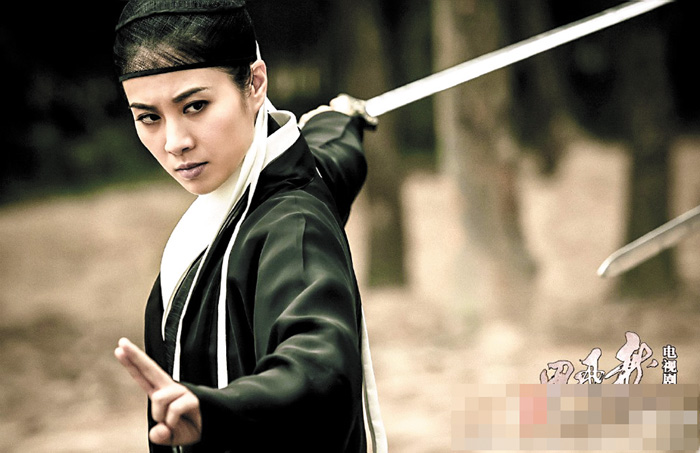 葉璇舞劍,功夫不錯。