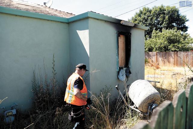 媽媽自焚釀三死慘案的房子。美聯社
