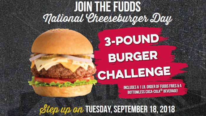 全美起司漢堡日有店家推出3磅漢堡挑戰賽。商家官網截圖