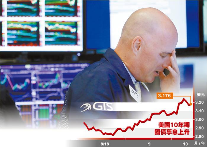美股連續兩日累計下跌逾1370點,圖為紐約證券交易所內操作員都不忍直視。美聯社
