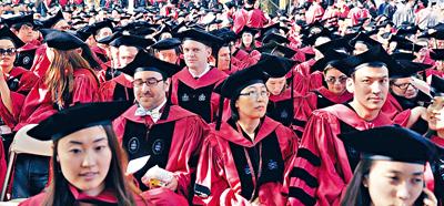 哈佛畢業生的綜合能力一向受到主流社會的認同。法新社資料圖片