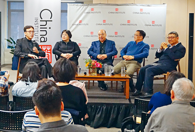左起:蔡金冬、陳怡、周龍、蘇煒、霍東齡。