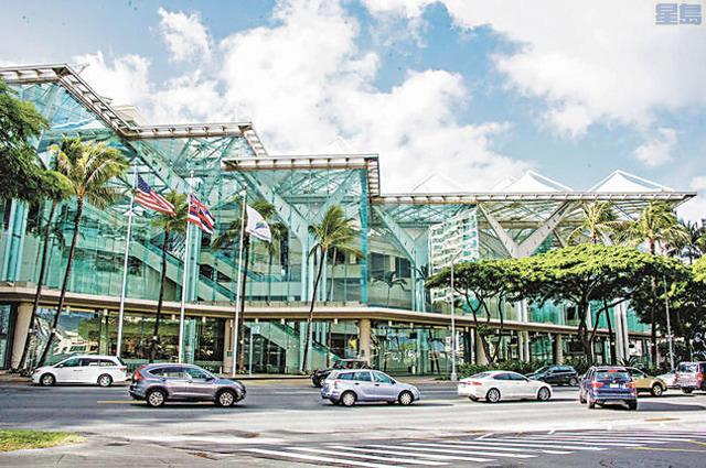 漏水不斷,夏威夷會議中心急需維修。KV & Associates, Hospitality Consulting提供