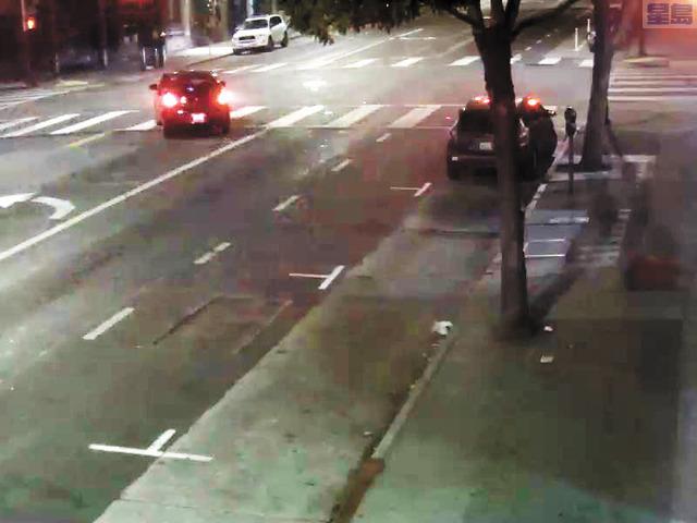 警方發布褐紅色四門房車圖片,指其涉及8月底米慎區一宗騎單車者被撞事件。三藩市警察局